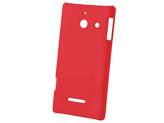 Чехол Huawei Mate Leather Case red для Ascend Mate пластиковый, красный