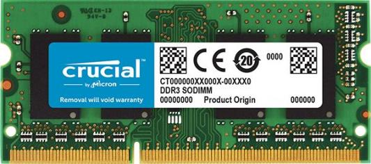 Оперативная память SO-DIMM DDR3 Crucial CT51264BF160B/J 4Gb (PC-12800) 1600MHz