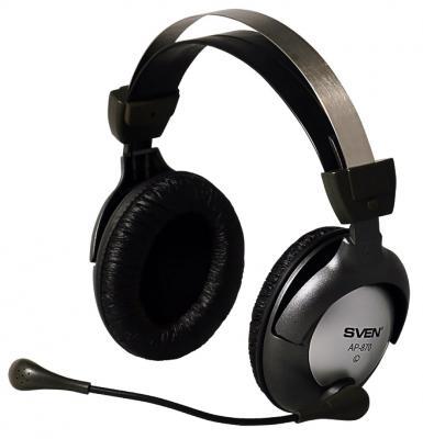 Гарнитура Sven AP-870 c регулятором громкости черный гарнитура sven ap 600 с регулятором громкости шумоподавление