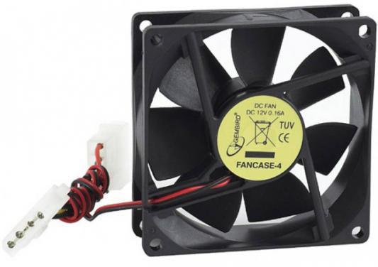 Вентилятор для корпуса Gembird 80x80x25mm разъем 4pin FANCASE-4 [супермаркет] джингдонг канг мин kangming многофункциональный открытый usb мини вентилятор зарядка третьей скорости вентилятора передач km 687