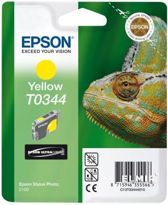 Картридж Epson C13T03444010 для Epson Stylus Photo 2100 Yellow картридж epson t0964 yellow для stylus photo r2880 c13t09644010