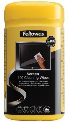 Влажные салфетки Fellowes FS-99703 100 шт влажные салфетки fellowes lamirel la 61617 01 24 шт