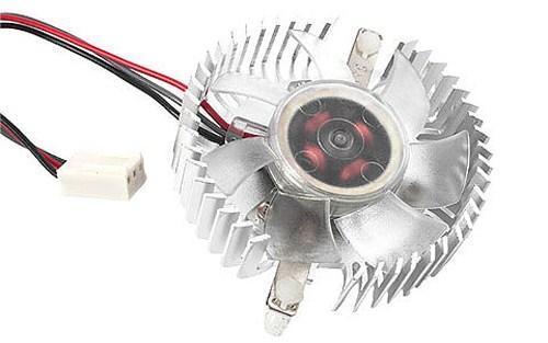 Кулер для видеокарты Gembird VC-RD 50x50x10mm неоновая подсветка