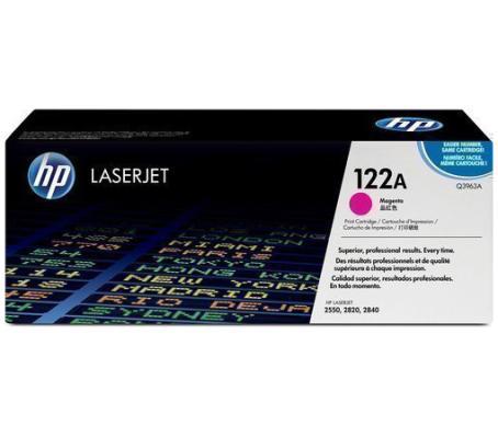Картридж HP Q3963A №122А для LaserJet 2550 2820 2840 пурпурный картридж hp q3963a пурпурный