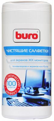 Влажные салфетки BURO BU-TSCREEN 100 шт влажные салфетки buro bu zsurface