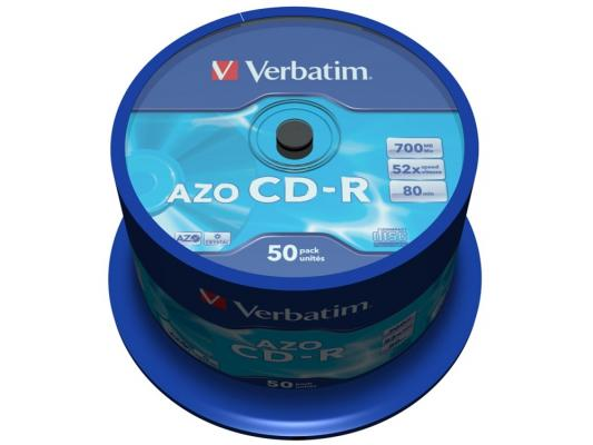 Диски CD-R 700Mb 52x CakeBox (50шт) Super Azo Crystal Verbatim [43343]