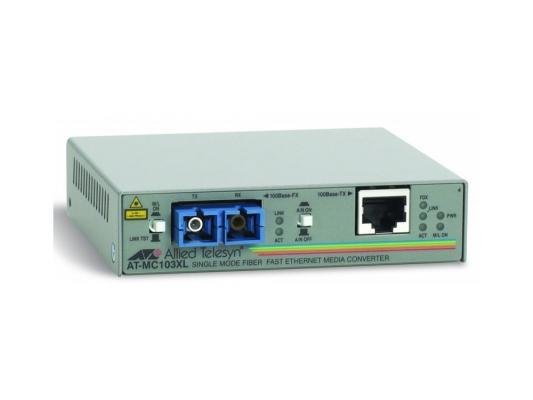 Медиаконвертер Allied Telesyn AT-MC103XL-60 100BaseTX to 100BaseFX медиа конвертер медиаконвертер allied telesis at mc103xl 60 100tx rj 45 to 100fx single mode fiber sc