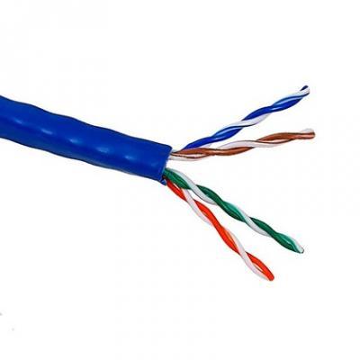 цена на Кабель Lanmaster UTP level 5E 4 пары PVC 200 MHz (305м) синий, 24AWG LAN-5EUTP-BL
