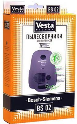 Комплект пылесборников Vesta BS 02 5шт + фильтр цена 2017