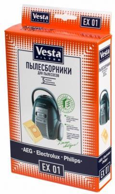 Комплект пылесборников Vesta EX 01 5шт комплект пылесборников vesta lg 02 5шт