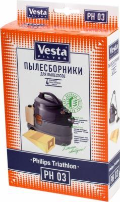 Комплект пылесборников Vesta PH 03 4шт + фильтр цена