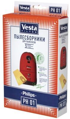 Комплект пылесборников Vesta PH 01 5шт + фильтр vesta filter ts 06 комплект пылесборников 4 шт фильтр