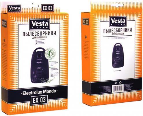 Бумажные пылесборники Vesta filter EX 03, для пылесосов(см описание), 5 шт в упаковке + фильтр цена и фото