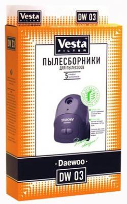 Комплект пылесборников Vesta DW 03 5шт комплект пылесборников vesta lg 02 5шт
