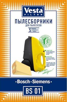 Комплект пылесборников Vesta BS 01 5шт комплект пылесборников vesta lg 02 5шт