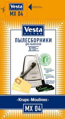 Комплект пылесборников Vesta MX 04 5шт + фильтр