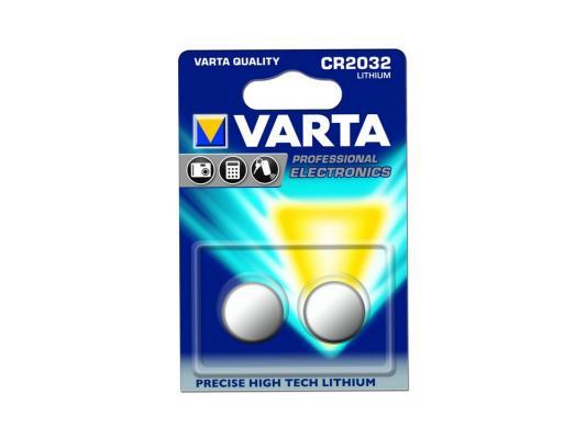 Батарейки Varta Professional Electronics CR2032 2 шт батарейки varta professional lithium cr123a 2 шт