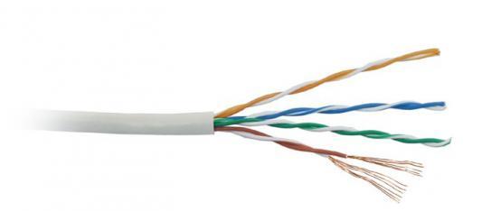 Кабель Lanmaster UTP level 5E 4 пары PVC 200 MHz (305м) серый 24AWG LAN-5EUTP-PT-GY canon pt 101