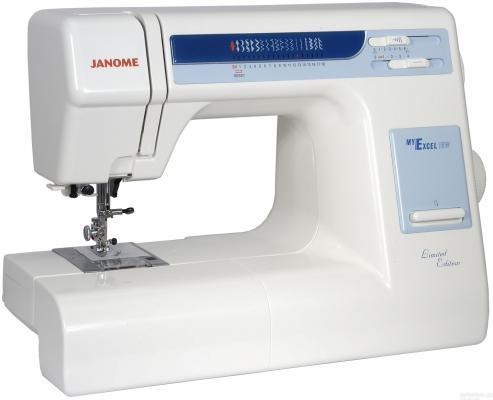 Швейная машина Janome MyExcel 18W бело-голубой цена и фото