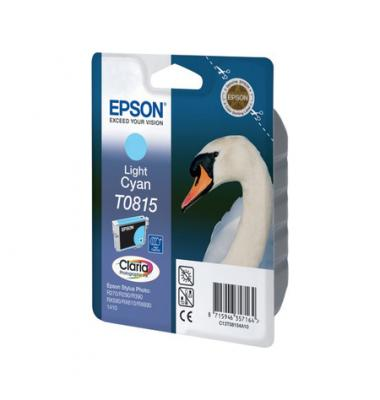 Картридж Epson C13T08154A10/С13Т11154А10 для Epson Stylus Photo R270/R390/RX590 светло-голубой
