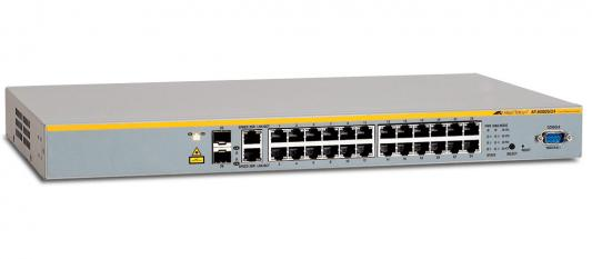 Allied Telesyn AT-8000S/24, 24-port Stackable Managed Fast Ethernet Switch with Two 10/100/1000T / SFP Combo uplinks медиаконвертер allied telesyn at mc103xl 60 100basetx to 100basefx медиа конвертер