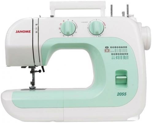 Швейная машина Janome 2055 бело-зеленый