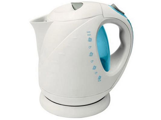 Чайник VES Electric 1008 2000 Вт белый 2 л пластик цена и фото
