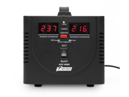 Стабилизатор напряжения Powerman AVS-1000D черный 2 розетки ибп стабилизатор powerman avs 500d черный
