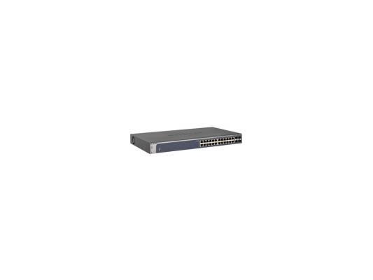 Коммутатор Netgear GSM7224EU, 24-ports 10/100/1000Mbps коммутатор tp link t2500 28tc 24 ports 10 100 1000mbps