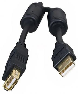 Кабель USB 2.0 AM-AF 3.0м 5bites золотые разъемы ферритовые кольца черный UC5011-030A аксессуар 5bites usb am af 3m uc5011 030a