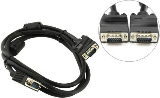 Кабель для монитора 5bites APC-133-018 VGA сигнальный HD15M/HD15M, ферр.кольца, 1.8м. кабель для монитора belsis vga 10 0 метров bw1476