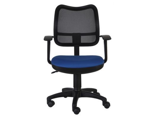 Кресло Buro CH-797AXSN/26-21 спинка сетка черный сиденье синий 26-21 подлокотники T-образные