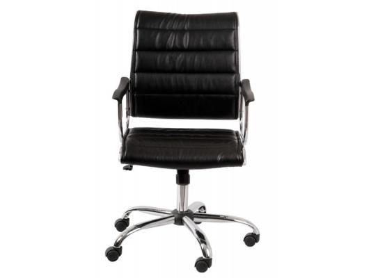 Кресло Buro Ch-994AXSN хромированная крестовина металлические подлокотники с пластиковыми накладками искусственная кожа черный