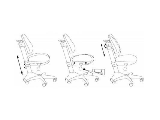 Кресло Buro KD-2/G/TW-10 синий серый пластик ручки kd 2 g pencil bl