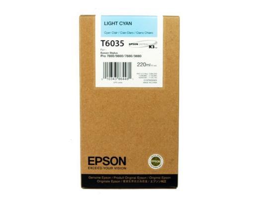 Картридж Epson C13T603500 для Epson Stylus Pro 7800/9800/7880/9880 светло-голубой картридж epson original t08254a для r270 390 rx590 светло голубой c13t11254a10