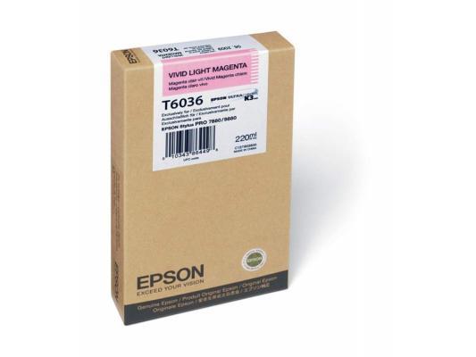 Картридж Epson C13T603600 для Stylus Pro 7880/9880 светло-пурпурный принтер струйный epson l312