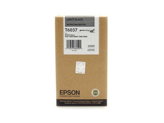 Картридж Epson C13T603700 для Epson Stylus Pro 7800/9800/7880/9880 серый einkshop maintenance ink tank for epson stylus pro 4000 4400 4450 4800 4880 7800 7880 9800 9880 9890 9900 printer waste ink tank