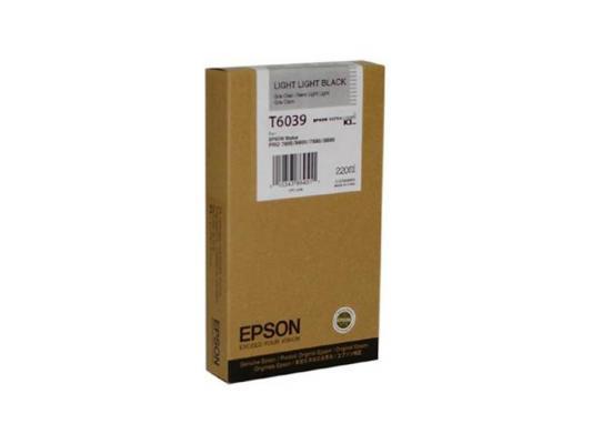 Картридж Epson C13T603900 для Epson Stylus Pro 7800/9800/7880/9880 светло-серый картридж epson stylus pro 7880 9880 c13t603300