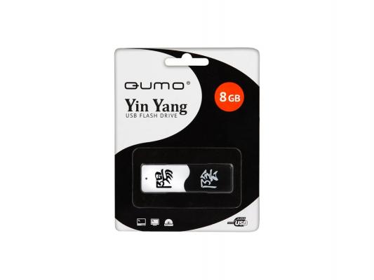 Флешка USB 8Gb QUMO Yin & Yan USB2.0 черно-белый QM8GUD-Y&Y