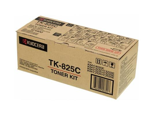 Картридж Kyocera TK-825C для KM C2520 C3225 C3232 голубой 7000стр тонер картридж kyocera mita tk 895c голубой