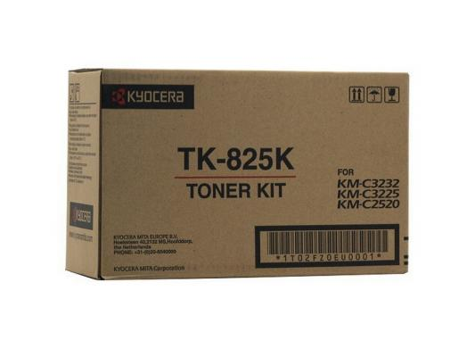 Картридж Kyocera TK-825K для KM C2520 C3225 C3232 черный 15000стр new original kyocera pulley paper feed 1 set of 3 for ta620 820 km 6030 8030
