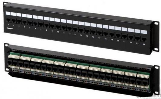 Патч-панель настенная 24XRJ45 UTP Кат 5е (PPW-24-8P8C-C5e-FR) патч панель hyperline pphd 19 48 8p8c c5e 110d высокой плотности 19
