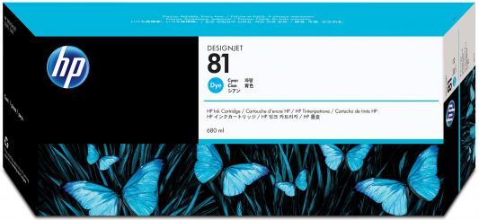 Картридж HP C4931A №81 для DesignJet 5000/5500 680мл голубой 2 x carriage bush q1253 60066 c6095 60183 q1251 69273 designjet 1050 5000 5100 5500 ps printer plotter ink printhead carriage