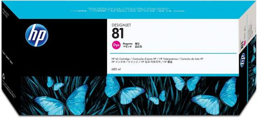 Картридж HP C4932A №81для DesignJet 5000/5500 680мл пурпурный картридж hp c9733a для hp 5500 5550dn 5550dtn 5550hdn 5550n пурпурный