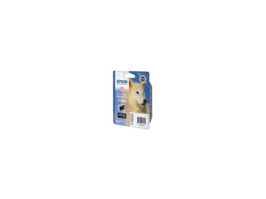 Купить Картридж Epson C13T09664010 T0966 для Stylus Photo R2880 Vivid Light Magenta светло-пурпурный