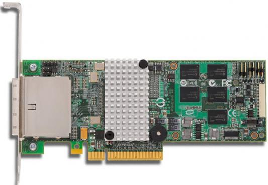 Контроллер SAS/SATA LSI MegaRAID SAS9280-8E, PCI-E 2.0 8x, RAID 0/1/5/6/10/50/60, 8 port, 512Mb cache [LSI00205] Single