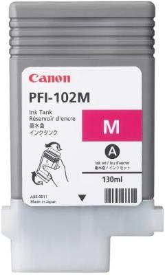Струйный картридж Canon PFI-102M пурпурный для iPF510/605/610 картридж струйный canon pfi 102m 0897b001 пурпурный для canon ip f510 605 610