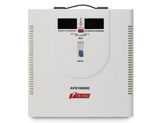 Стабилизатор напряжения Powerman AVS-10000D белый 2 розетки