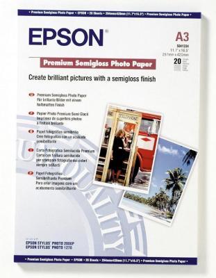 Бумага Epson A3 251 г/кв.м Premium Semiglossy Photo Paper [C13S041334] 20л a3 photo laminator office hot