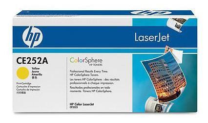 цена на Картридж HP CE252A №504А желтый для Color LaserJet CM3530 CP3525 7000стр